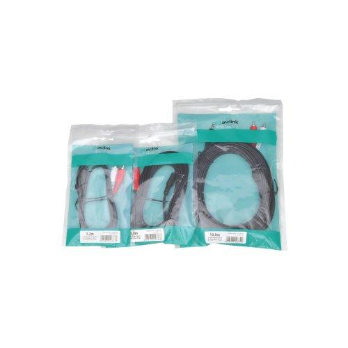3.5mm Stereo Plug to 2 x RCA Plugs Leads