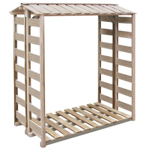 vidaXL Firewood Storage Shed 150x100x176cm FSC Impregnated Pinewood Log Cabin