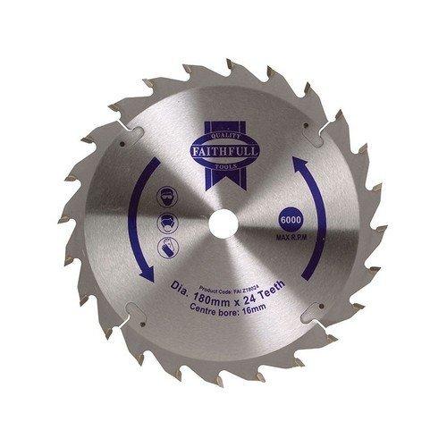 Faithfull FAIZ18024 Circular Saw Blade 180 x 16mm x 24T Fast Rip