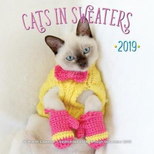 Cats In Sweaters Mini 2019: 16-Month Calendar - September 2018 through December 2019