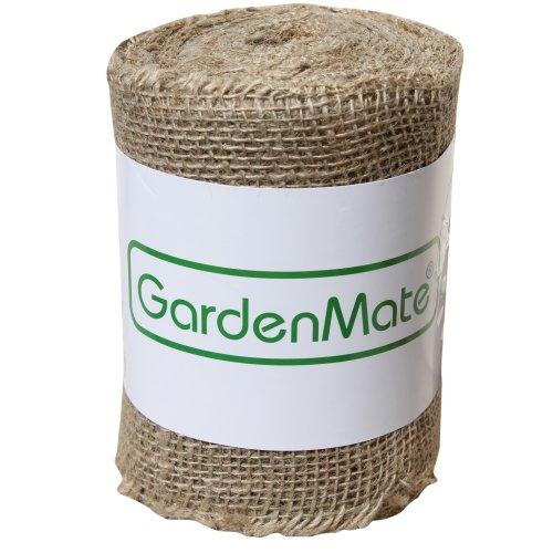 GardenMate Hessian Jute Burlap Ribbon for Plant Protection - 25m x 15cm 200gsm