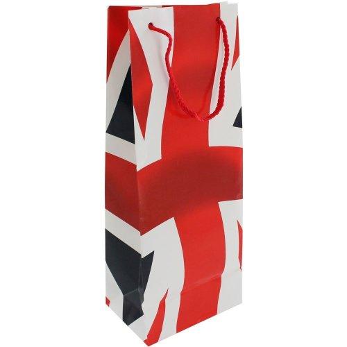 Union Jack Bottle Gift Bag Party Royal Wedding UK GB British Flag Birthday Wine