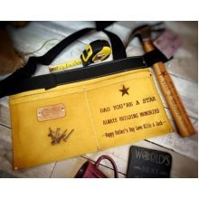 Personalised Leather Tool And Nail Belt - Etched With Any Message