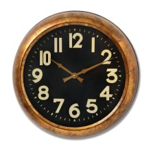 Deep Rim Gold Leaf Wall Clock - 51cm Diameter - Great Feature Clock.