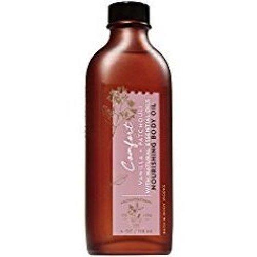 Bath and Body Works Aromatherapy Comfort Vanilla &amp Patchouli Nourishing Body Oil 4 Oz