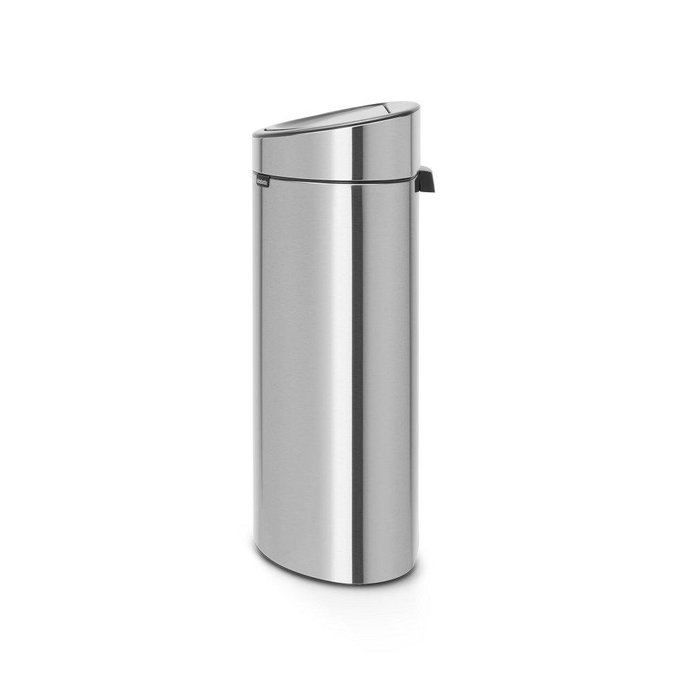 Brabantia Touch Bin 50 Liter Wit.Brabantia Touch Bin With Plastic Inner Bucket 40 L Matt Steel Fingerprint Proof