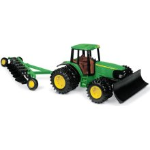 John Deere Tractor with Blade and Plow