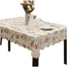Rose Flower Leaf  Rectangular Tablecloth (152*203cm)