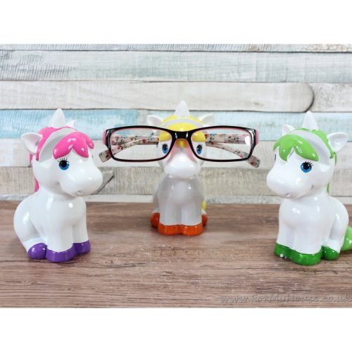Unicorn Glasses holder Pink, Yellow & Green