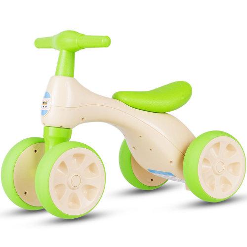 Baby Balance Bikes 4 Wheels Walker Ride On Toddler Scooter