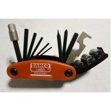 Bahco BKE850901 Bicycle Tool Set Hand Held Multi 17 Piece Tool Socket
