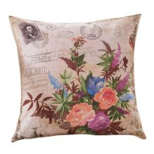 Concise Style Flowering Plant Throw Pillow Cushion Fashion Back Cushion Cover A