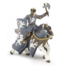 Papo Black Horseman With Axe Figurine - Knight 39775 Collectioncm Castles -  black knight horseman papo 39775 collection cm castles