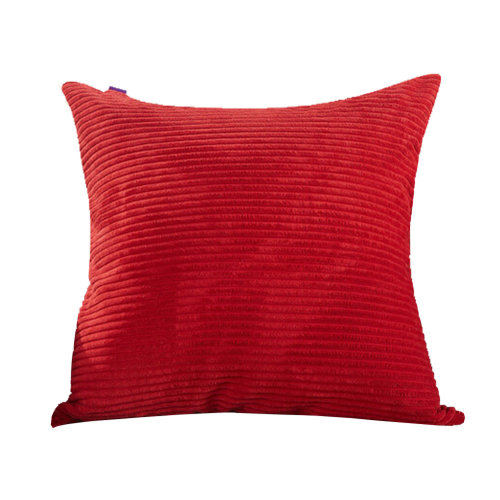 Classical Pinstriped Corduroy Throw Pillows Chain Accent Decorative Red