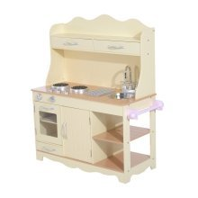 Homcom Children's Role Play Kitchen | Large Wooden Cooker Play Set