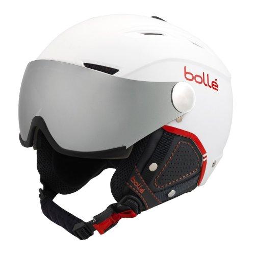Bolle Backline Visor Premium Ski Helmet - Soft White / Red-59-61cm