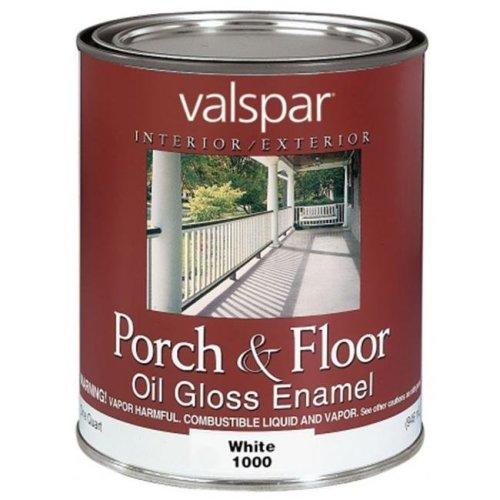Valspar Brand 1 Quart White Porch & Floor Oil Enamel Paint  27-1000 QT