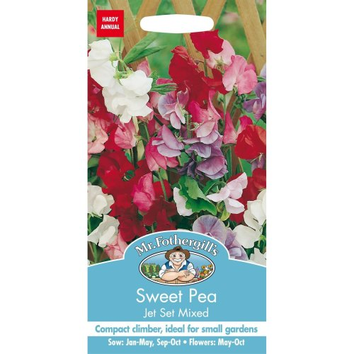Mr Fothergills - Pictorial Packet - Flower - Sweet Pea Jet Set Mixed - 35 Seeds
