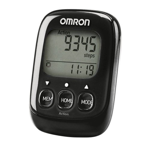 Omron HJ325-EBK Black 3D Walking Style IV Step Counter Pedometer