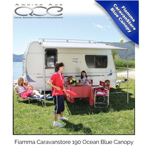 Fiamma Caravanstore 190 Blue Ocean Roll Out Canopy