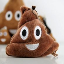 Fun Novelty Smiley Emoji Poo Shape Coin Purses Xmas Gift Party Stocking Filler
