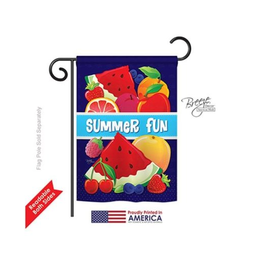 Breeze Decor 56061 Summer Summer Fun 2-Sided Impression Garden Flag - 13 x 18.5 in.