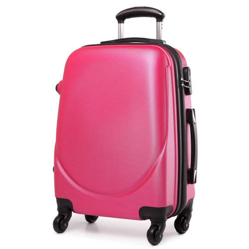 KONO Luggage Suitcase Travel Bag Cabin Trolley Case 4 Wheels Spinner Hard Shell ABS 20 Inch Plum
