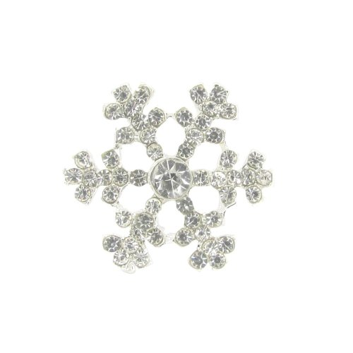 10 x Mini Sparkly Snowflake Rhinestone Diamante Embellishment For Winter Weddings Invitations and Cards Approx Size 2cm