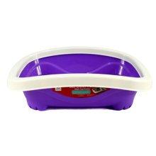 """Pet Supplies & Indoor Training Pet Potty Cat litter Basin(16""""*13""""*4.3""""),Violet"""