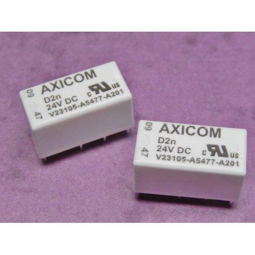 RELAY 3A 24Vdc coil DPCO V23105-A5477-A201 AXICOM PACK of 2