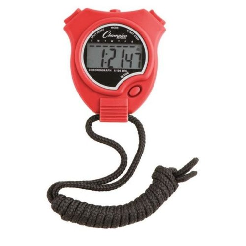 Champion Sports 910RD Stop Watch, Scarlet