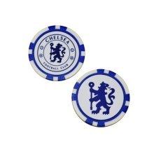 Chelsea Fc Poker Chip Ball Marker 2-pack - White/blue - Markers Golf Foot -  poker ball chelsea chip markers fc golf football