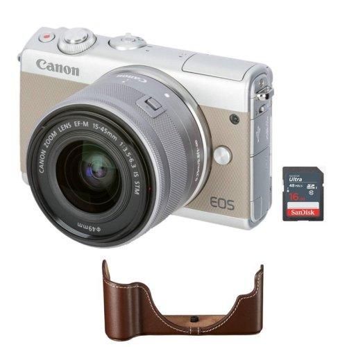 CANON EOS M100 Grey +EF-M 15-45 IS STM+EH27-CJ Body Jacket+16G SD card