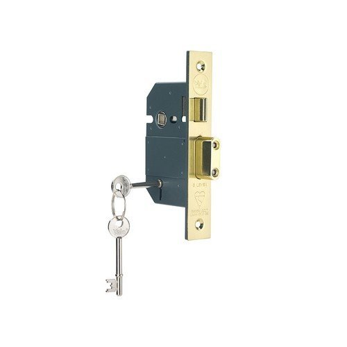 Yale Locks 655600105025 PM560 Hi-Security BS 5 Lever Mortice Sashlock Polish Brass 68mm 2.5in