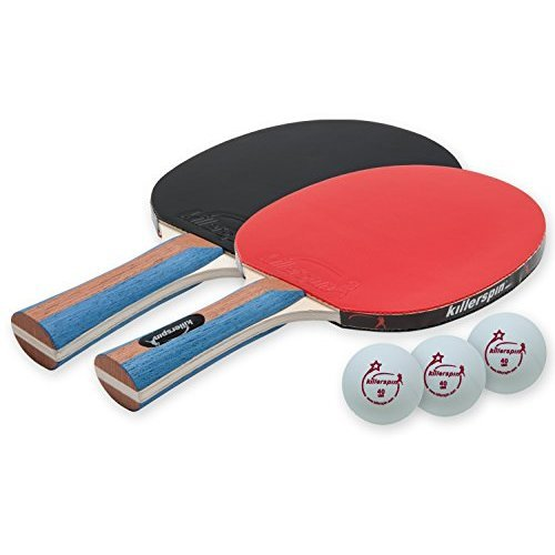 Killerspin JETSET 2 Premium Set Table Tennis Set with 2 Ping Pong Paddles With Premium Rubbers and 3 Ping Pong Balls