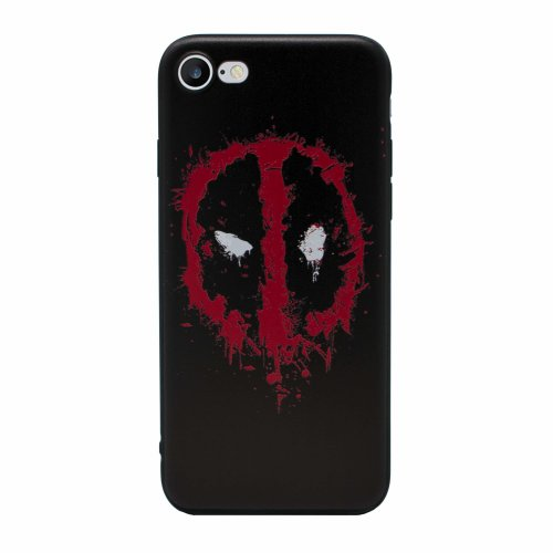 detailed look b2e70 f687a iPhone 5/5s 3D Marvel Silicone Case / Gel Cover for Apple iPhone 5s 5 SE /  Screen Protector & Cloth / iCHOOSE / Deadpool - Logo