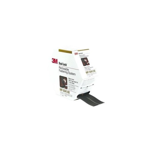 3M Mobile Interactive Solution TB3550 1 in. x 10 ft. 1 Mated Strip & Bag Dual Lock - Black