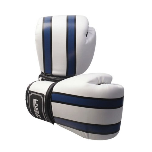 Fashion Boxing Martial Arts Training Gloves BLUE WHITE, 12 Ounce