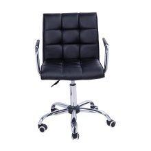 (Black) Homcom Swivel Office Chair | PU Leather Desk Chair