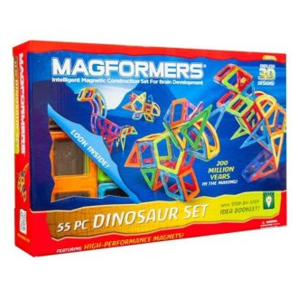 Magformers 63104 Dinosaur, 55 Piece Set, Ages 3 And Up