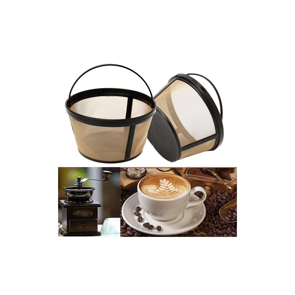 Coffee Strainer Basket Permanent Durable Filter 10 12 Cup Coffeemakers Kitchen Cafe Tool