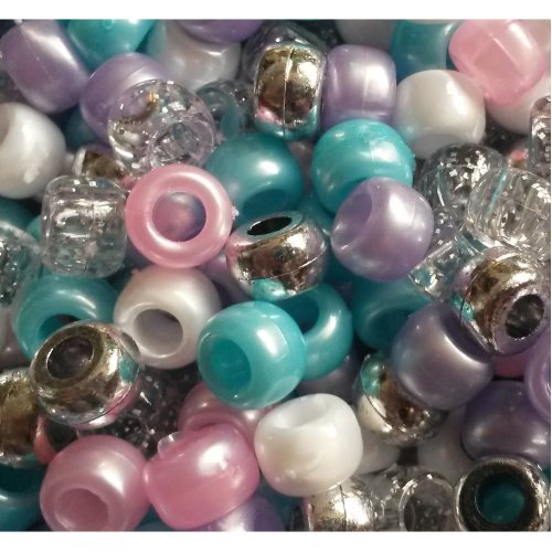 Pony Beads 6mmx9mm 900//pkg-opaque Multicolor