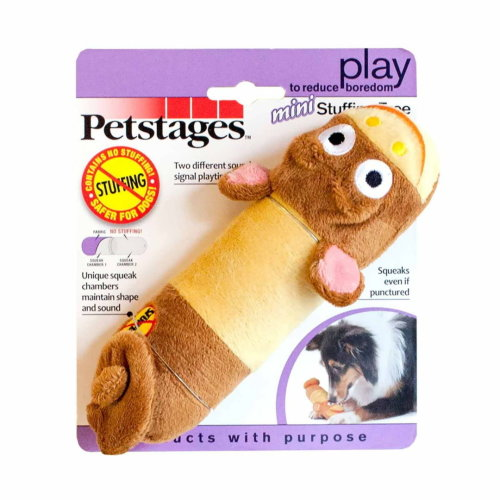 Petstages Stuffing Free Lil' Squeak Monkey S