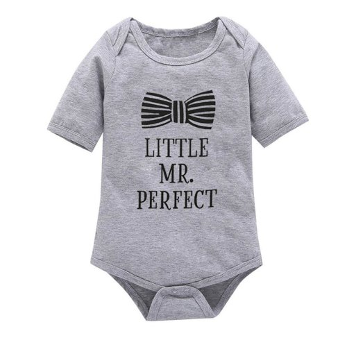 2017 New Summer Baby Clothing Baby Boys Clothes Girls Short Sleeves Letter Rompers Infant Toddler One Pieces Jumpsuit