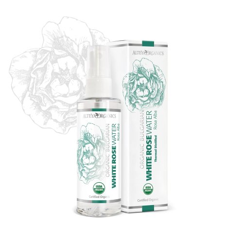 Alteya Organic White Rose Water Spray 100ml - 100% USDA Certified Organic Authentic Pure Natural Rosa Alba Flower Water Steam-Distilled and Sold...