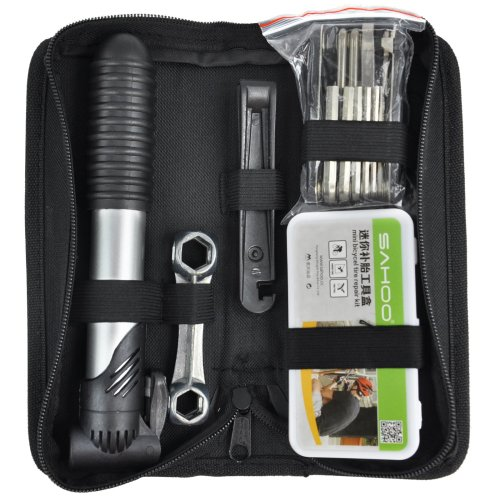Trixes 16 Piece Puncture Repair & Tool Kit for Cycles & Mountain Bikes
