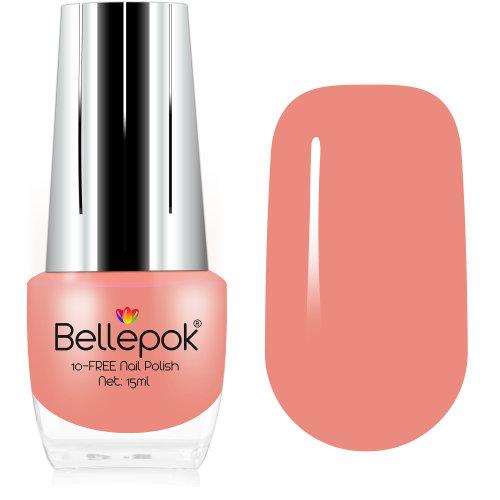 Bellepok 10-FREE Nail Polish - Apricot | Non-Toxic Peach Nail Varnish