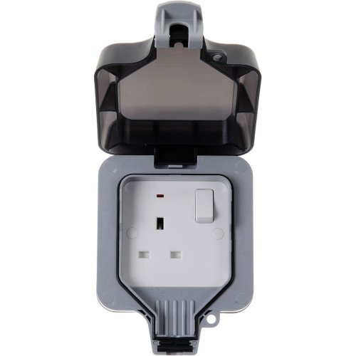 Masterplug WP21 13A 1-Gang Storm Weatherproof Outdoor Switched Socket Single