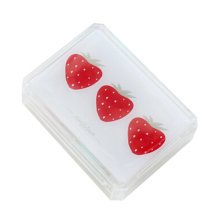 Fashion Contact Lens Case With Mirror Portable Contact Lens Container Strawberry