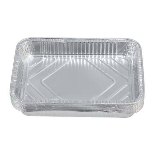 10pcs Disposable BBQ Aluminium Foil Drip Pans or Baking Trays